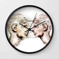 psychology Wall Clocks featuring Love is all ! by teddynash
