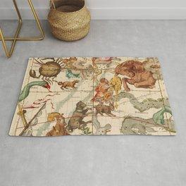 Star Atlas Vintage Constellation Map Ignace Gaston Pardies Plate 5 Rug