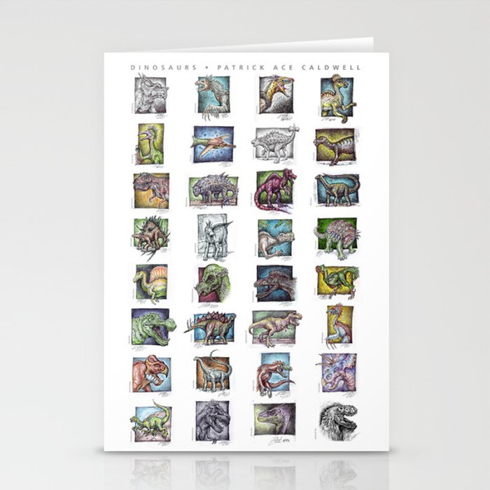 Dinosaurs Compilation Stationery Cards