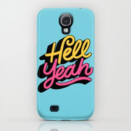 hell yeah 002 x typography iPhone Case