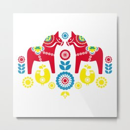 Swedish Dalahäst Metal Print