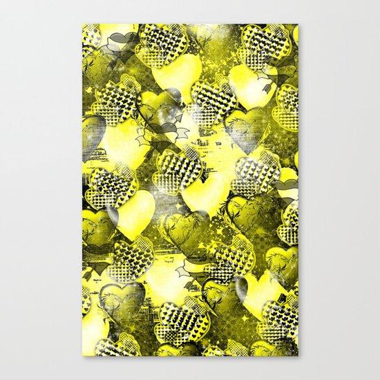Light Bulb Hearts Series (yellow) Canvas Print