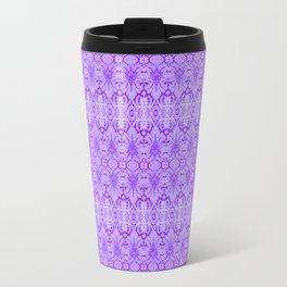 Lavender Damask Pattern Travel Mug