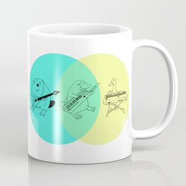 Keytar Platypus Venn Diagram Coffee Mug