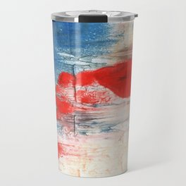 Red Blue watercolor Travel Mug