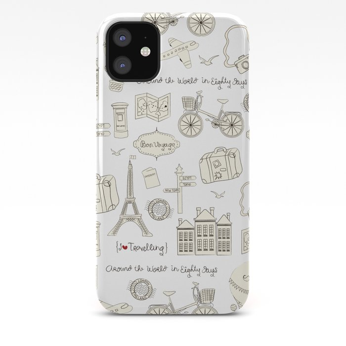 I {❤} Travel iPhone Case
