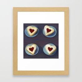 Linzer Cookies Framed Art Print