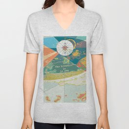 Adventure Map, The Treasure is in You Unisex V-Neck