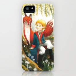 The little Prince and the fox iPhone Case
