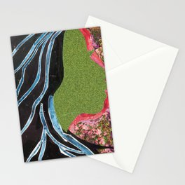 Black Hair Lady Stationery Cards