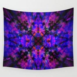 Dark blue kaleidoscope pattern Wall Tapestry