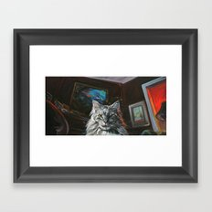 Two Faces of the Main Coon Cat Framed Art Print
