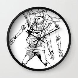 Gappy posing as freddy mercury Wall Clock