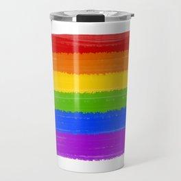 Rainbow Pride Flag Travel Mug