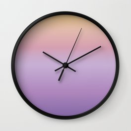 Mindfulness - purple and orange Wall Clock