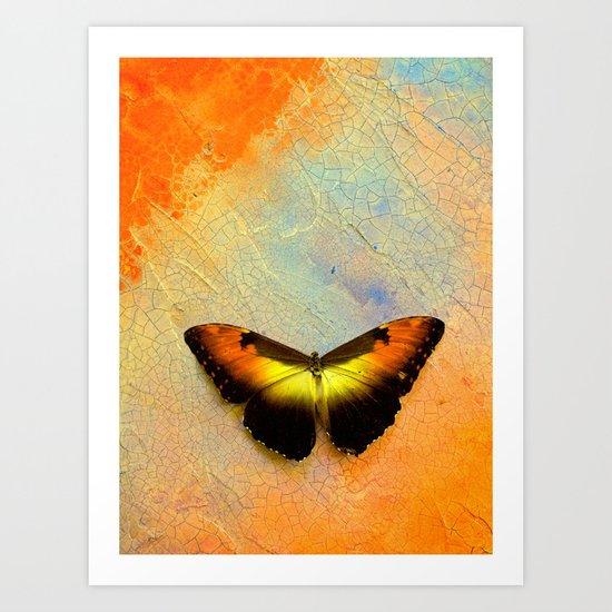 Golden Morpho Art Print
