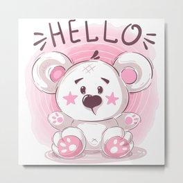 Cutiest Teddy Bear Metal Print