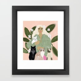 Cat Mom Framed Art Print