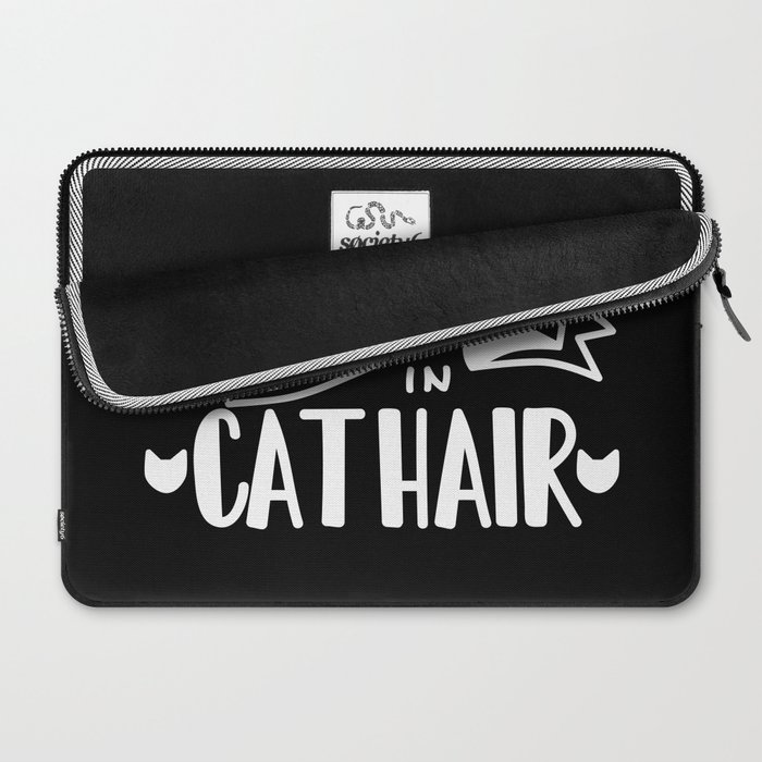 Covered in Cat Hair (Inverted) Laptop Sleeve