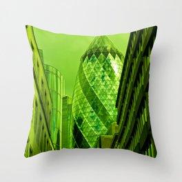 the Gherkin In Green Throw Pillow