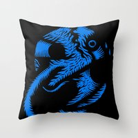 angel Throw Pillows featuring Angel by Stephane Eck