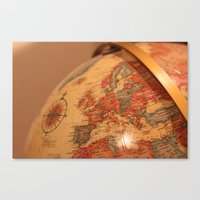 globe Canvas Prints featuring Globe by RMK Photography