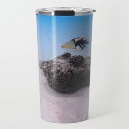 Tropical Maldives White Sand Lagoon Coral Fish Travel Mug