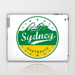 Sydney City, Australia, circle, green yellow Laptop & iPad Skin
