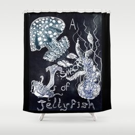 A Smack of Jellyfish Shower Curtain