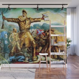 Classical Masterpiece by John Steuart Curry - Tragic Prelude  - John Brown. Wall Mural