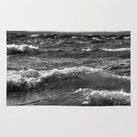 wave Area & Throw Rugs featuring Wave by Pure Nature Photos