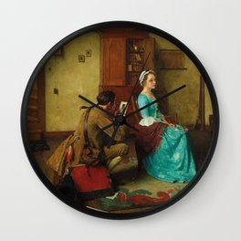THE SILHOUETTE by NORMAN ROCKWELL Wall Clock