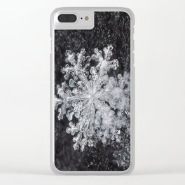 Snowflake Closeup #3 Clear iPhone Case