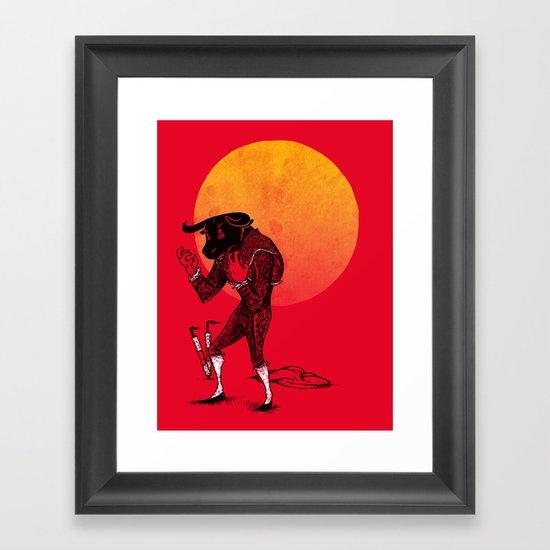 Matador's Dilemma Framed Art Print