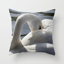 Swan Peace Throw Pillow