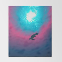 Space Wave Throw Blanket