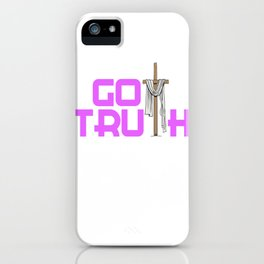 Creative simple tee design made perfectly for your faith. Makes a nice gift for everyone!  iPhone Case
