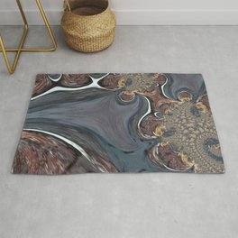 Coffee Swirl - Abstract Fractal Art by Fluid Nature Rug
