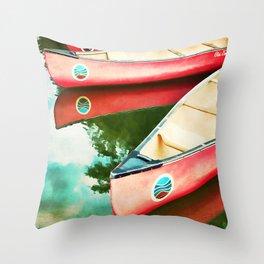 Lake Reflections Throw Pillow
