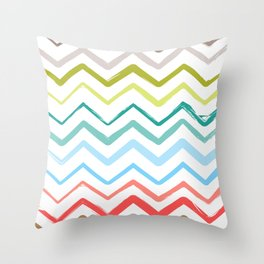 Hand Drawn Single Lines Throw Pillow