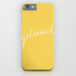 Get naked Yellow iPhone Case