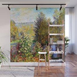 Claude Monet : A Corner of the Garden at Montgeron Wall Mural