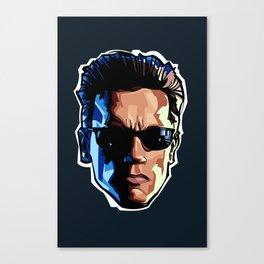 Terminator Head 1 Canvas Print