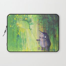the shmorbled panda with an owl at the leash Laptop Sleeve