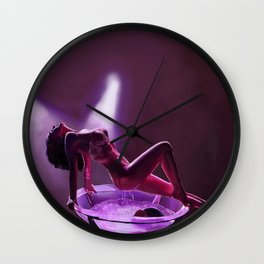 Midnight dancer Wall Clock