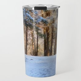 A Winter Morning in the Woods Travel Mug