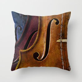 Violin Composition Throw Pillow