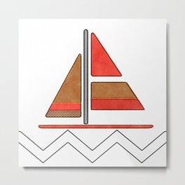 Sailbot Metal Print