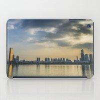 seoul iPad Cases featuring Seoul Skyline by Clayton Jones