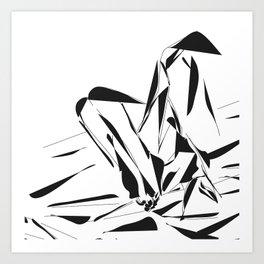 Sexy Feet at white room Art Print